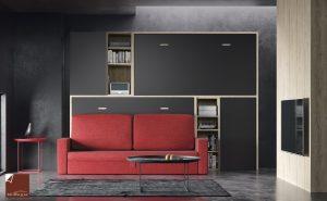 Camas abatibles con sofá para descanso y ocio en Muebles Valencia