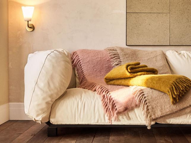 Mantas de mohair para los sofás de tu tienda de Madrid